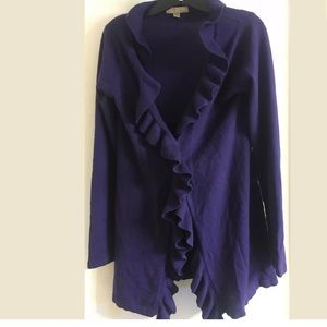 one A Purple Drape Cardigan Sweater Size Medium M